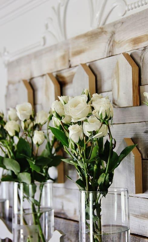 spring mantel ideas flowers
