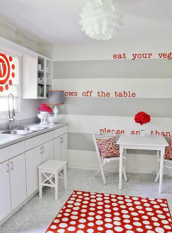 How to Paint Stripes - Thistlewood Farm on Small:xmqi70Klvwi= Kitchen Remodel Ideas  id=80893