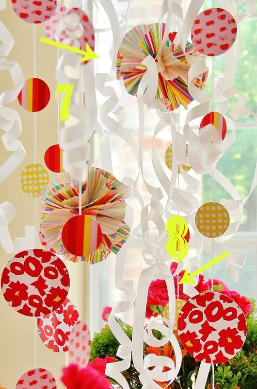 Use extra cupcake liners to create decorations to hang