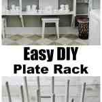 Easy To Make Diy Plate Display Rack Thistlewood Farms