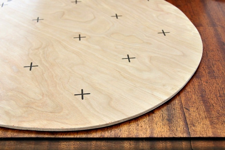 Figure out the placement and layout of your mirror pattern.