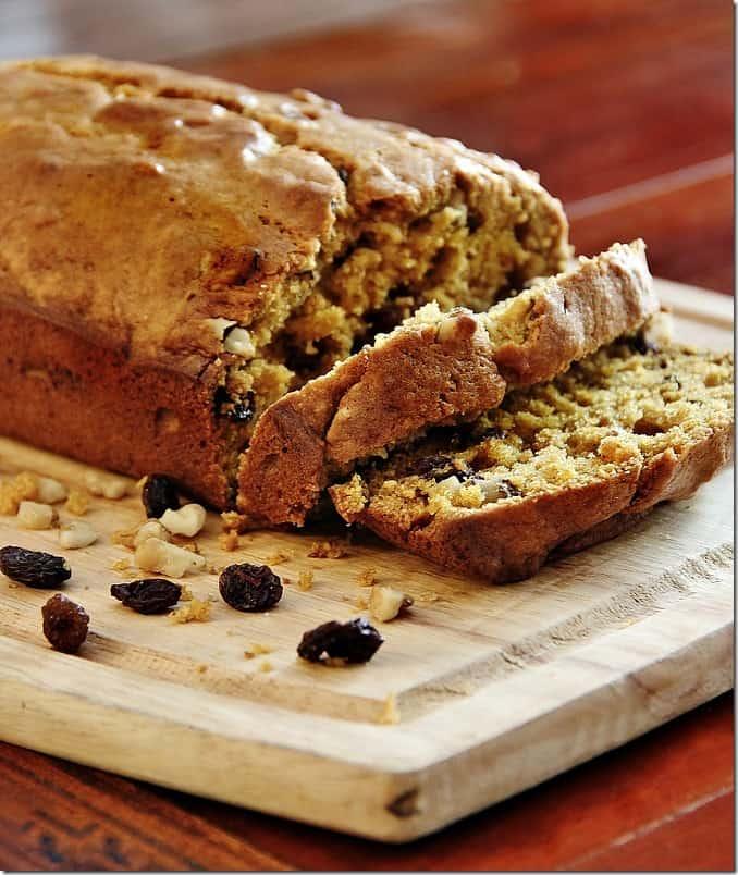 This walnut raisin pumpkin bread is the perfect recipe for fall.