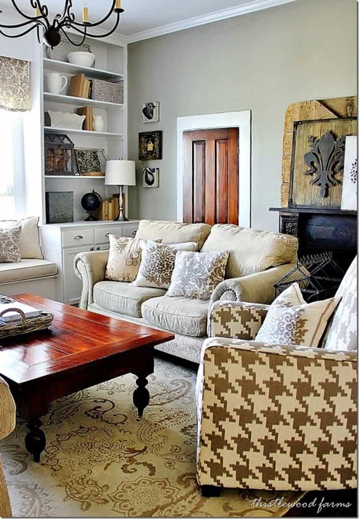 Industrial Farmhouse Decorating - Thistlewood Farm on Curtains For Farmhouse Living Room  id=49165