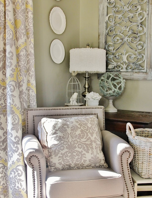 Removing wallpaper the from this room transformed the space into a beautifully designed and relaxing area.