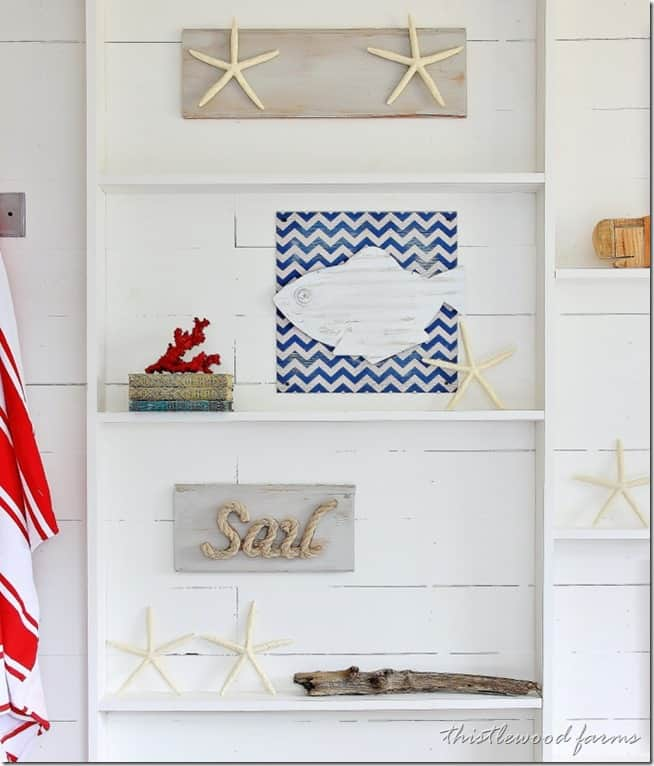 before and after coastal decorating