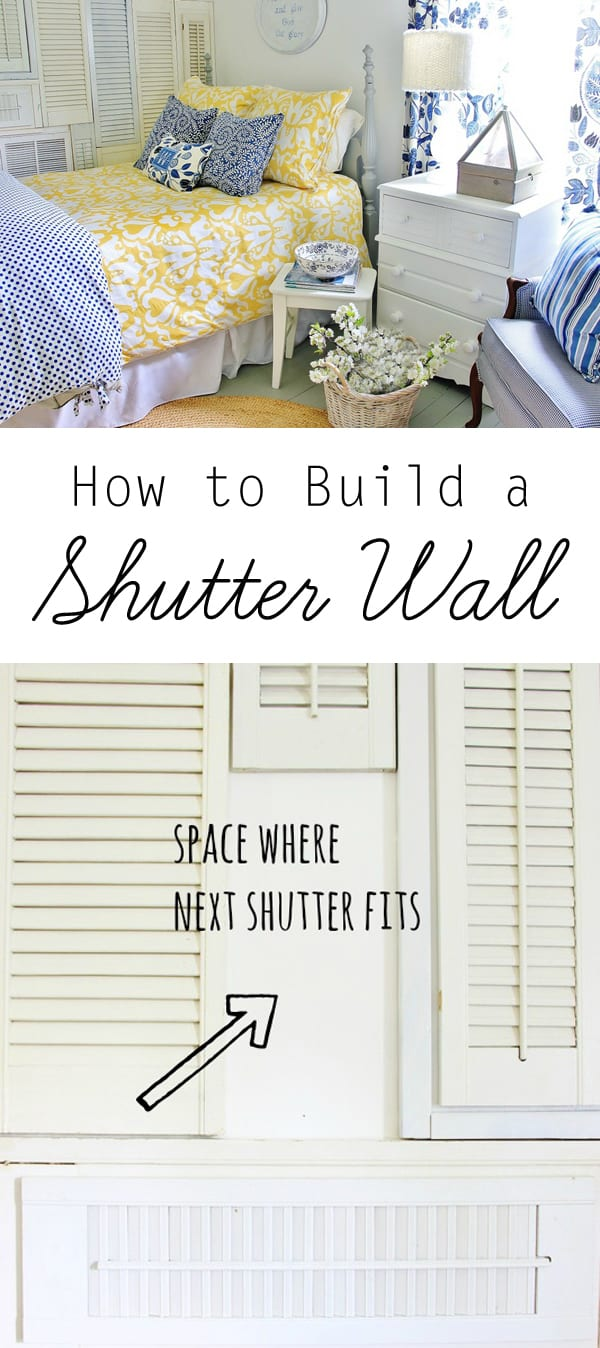 How to build a shutter wall