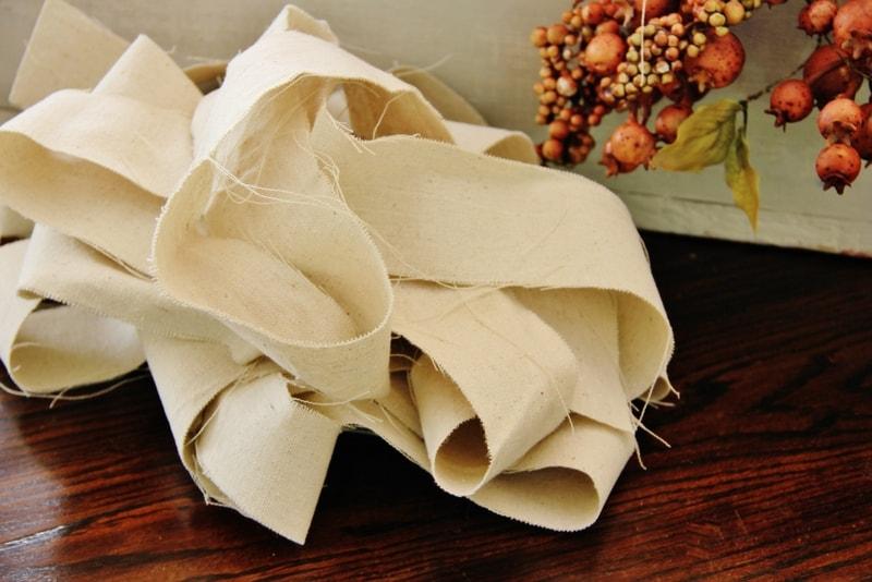 drop cloth ribbon
