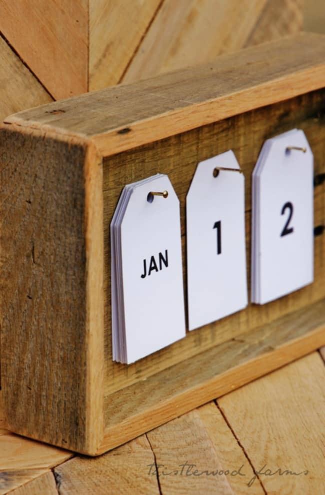 Pallet Wood Calendars