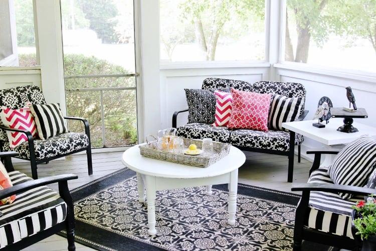 back porch living area