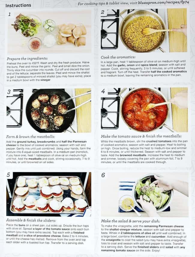 turkey meatball sliders instructions