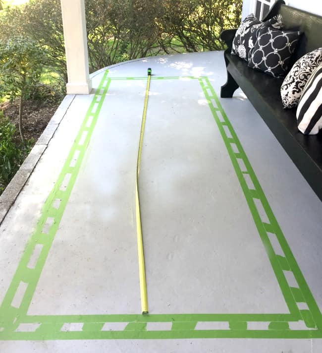 painted floor runner project