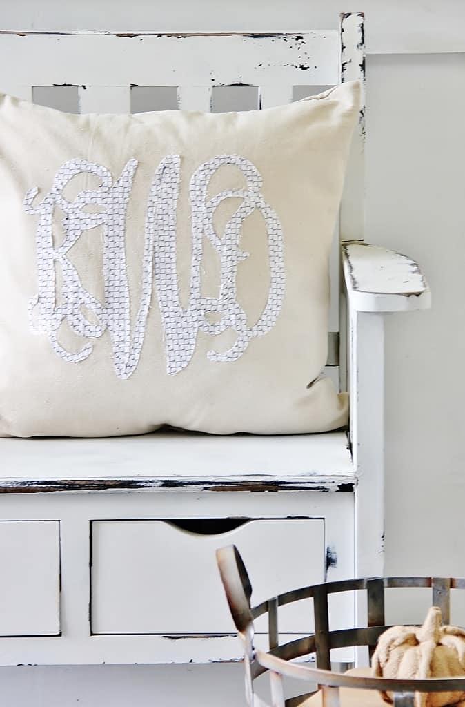 Back Porch Monogram Pillow