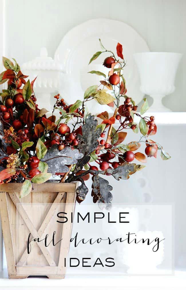simple fall decorating ideas