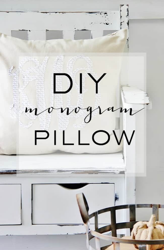 These DIY monogram pillows are easy to make and look adorable in any room.