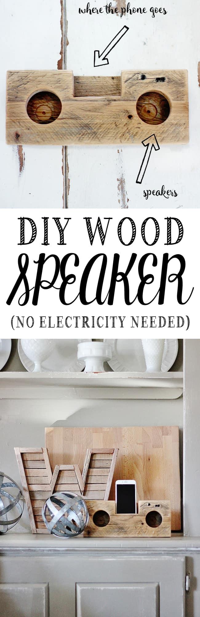 DIY Wood Speaker instructions