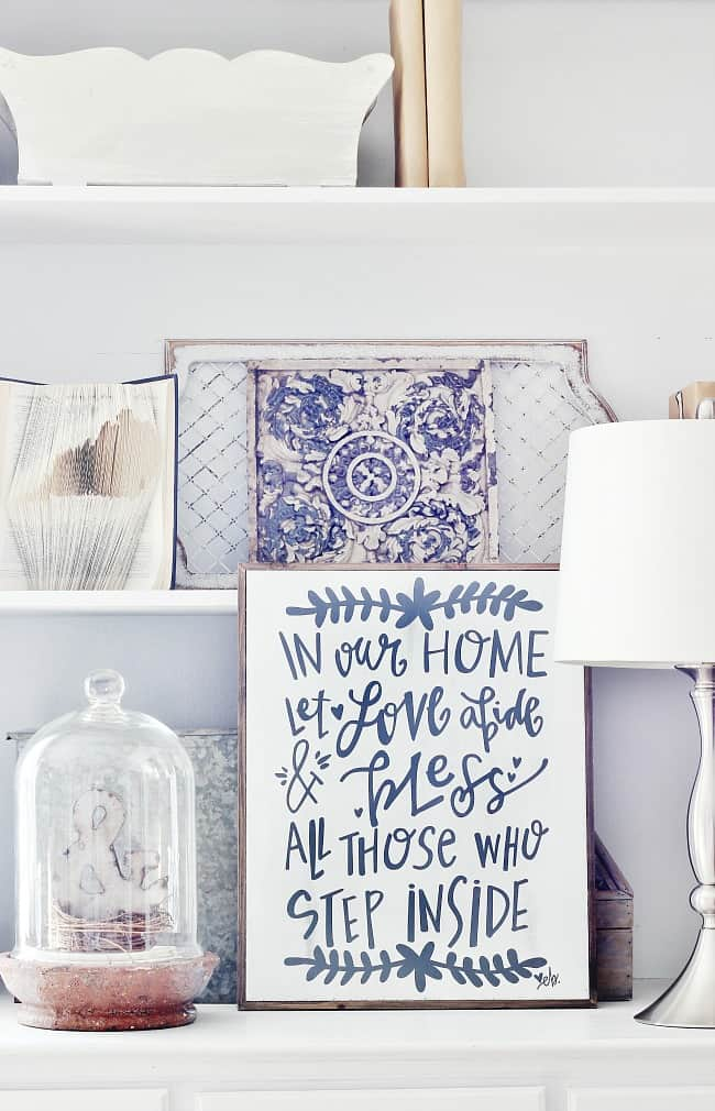 This cute sign is a great accent for your farmhouse decor