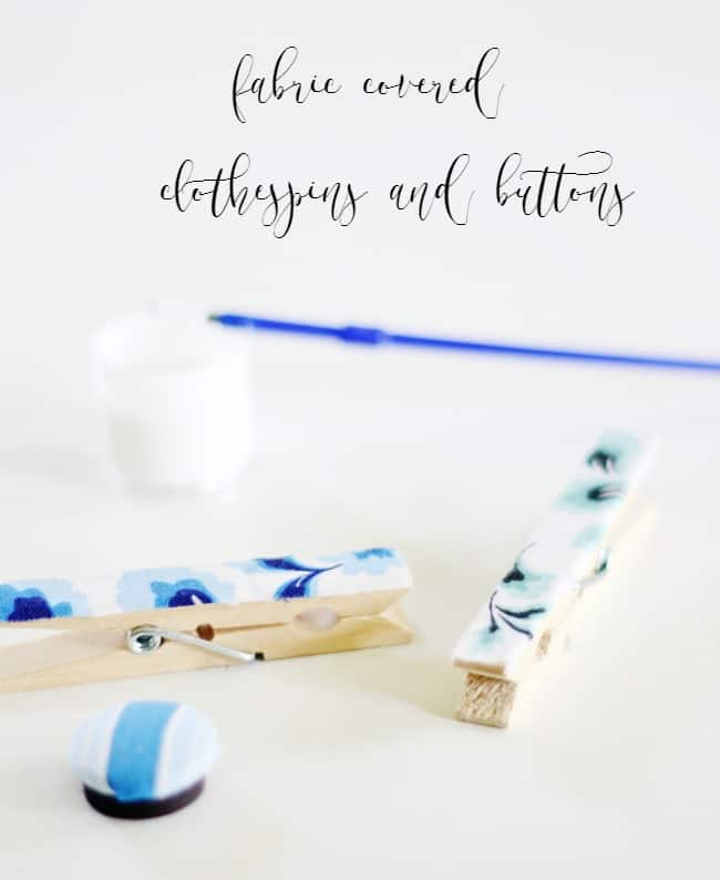 How to make fabric covered clothes pins and buttons using charm packs