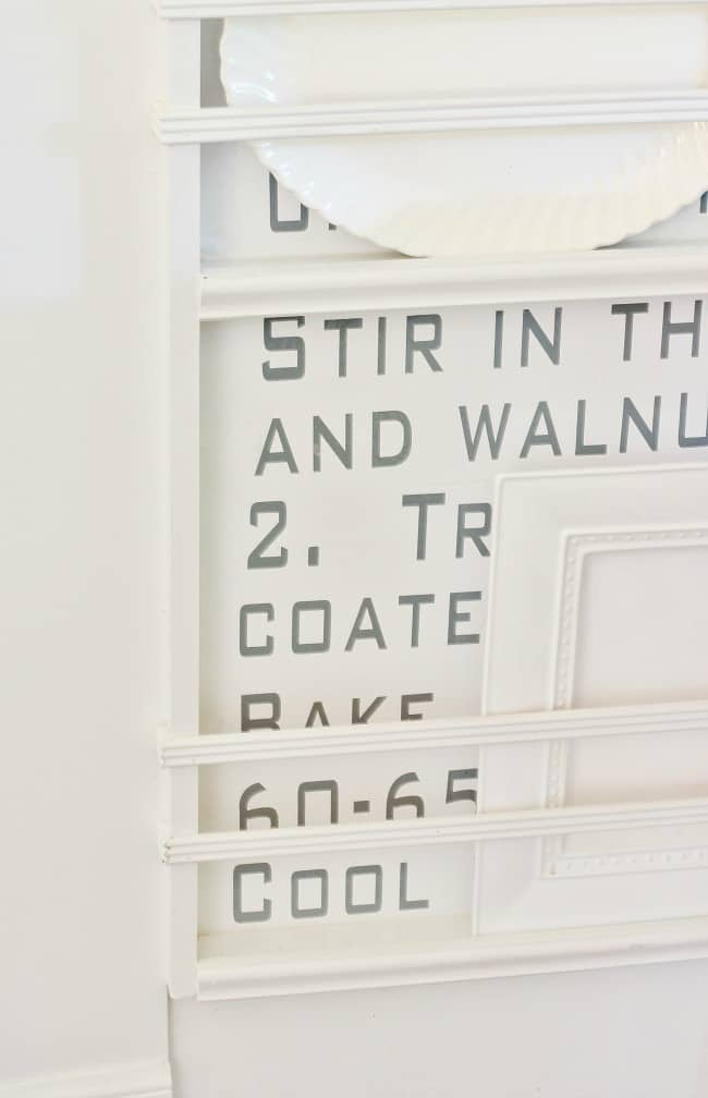 recipe wall letters