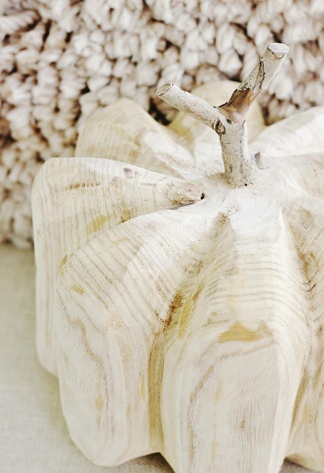 favorite faux pumpkins wood