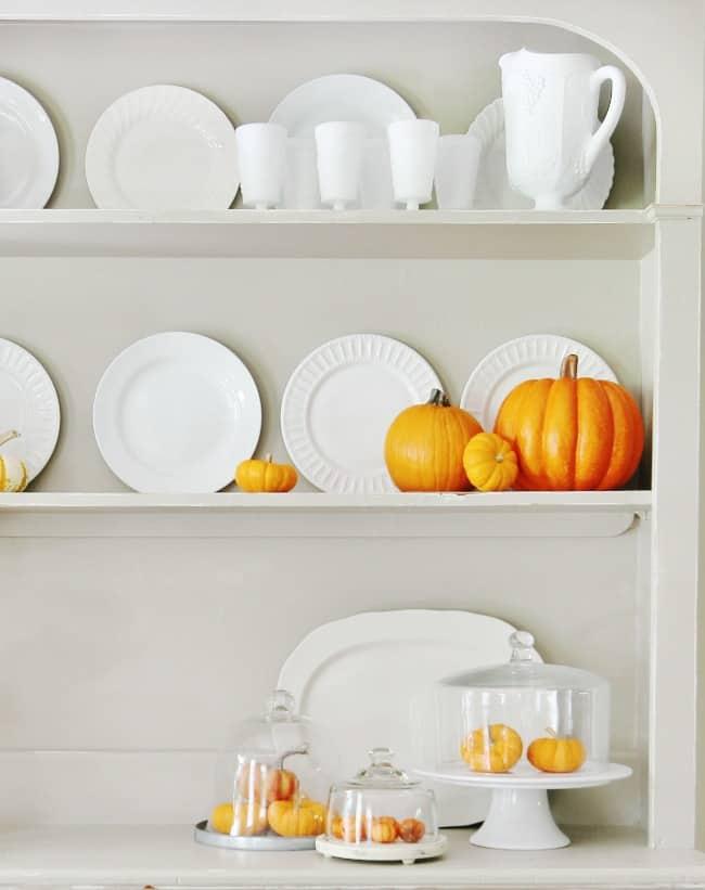 hutch-with-orange-pumpkins