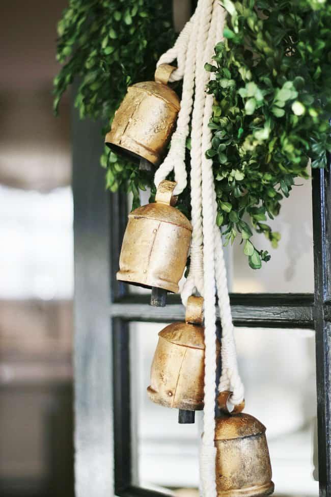 Detail photo of bells hanging on my door