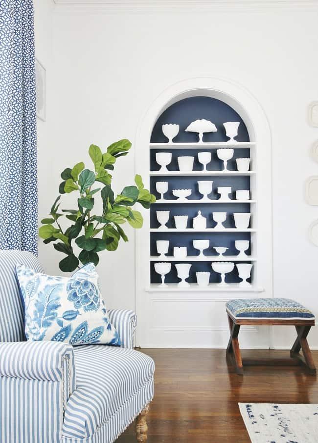 DIY bookshelf projects bookshelf painted with SW Naval