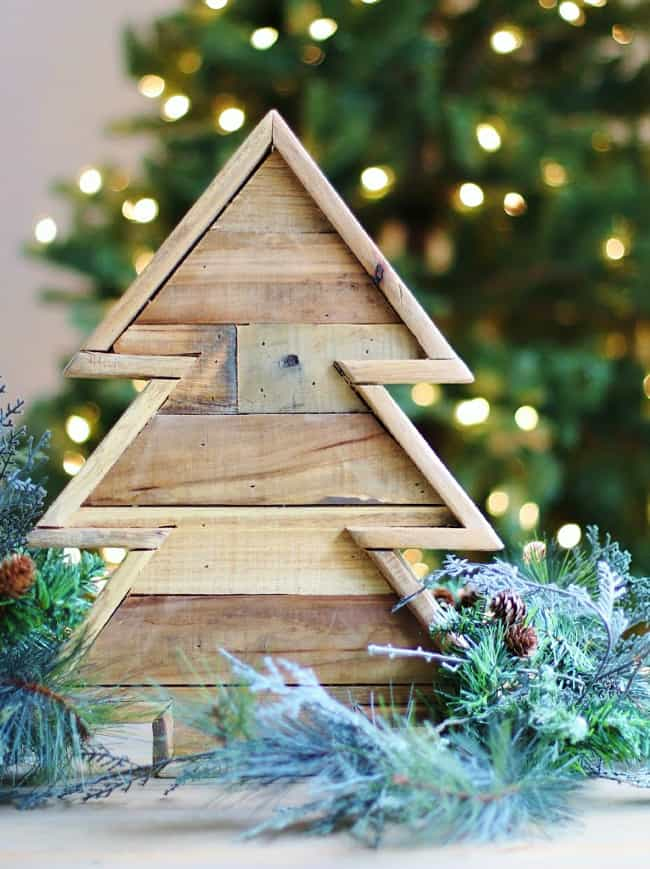 wooden tree project for Christmas