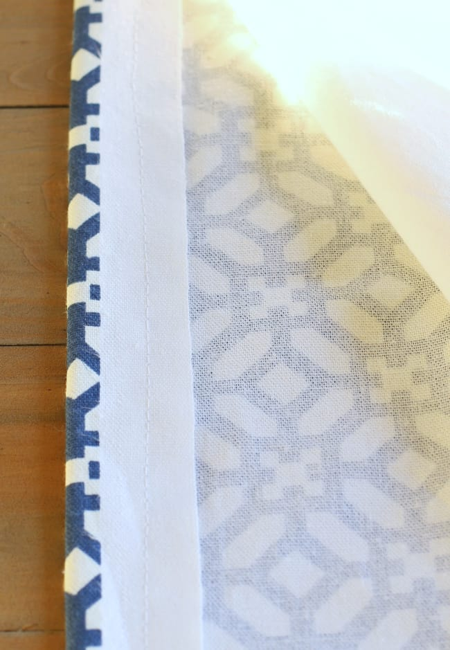 close view of sewn fabrics