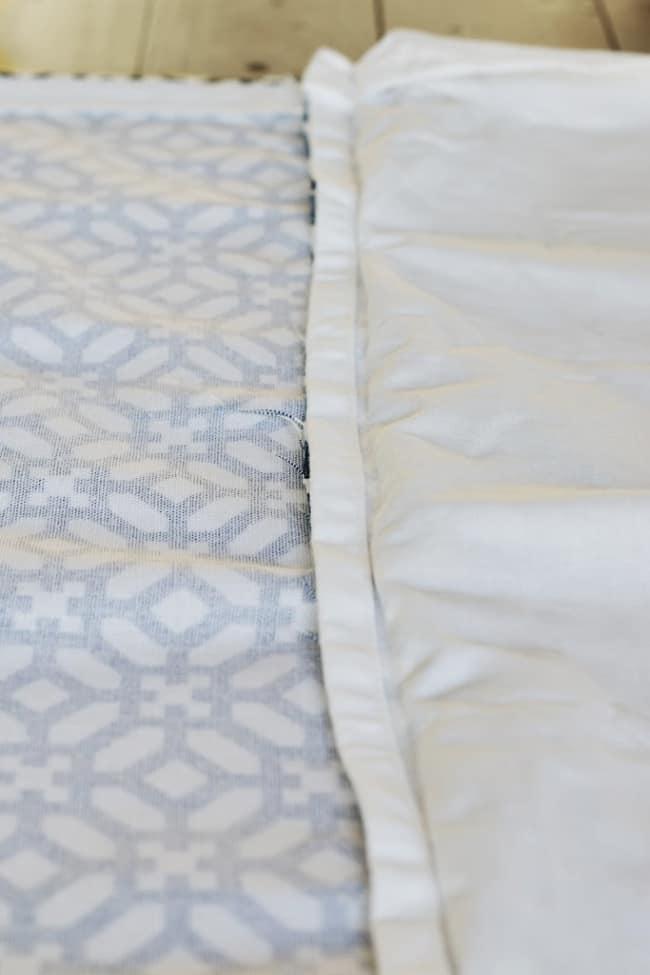 close view of fabric seam