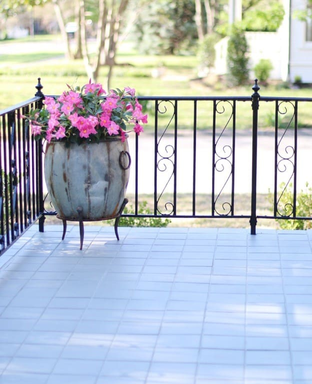 using brick paint on the porch