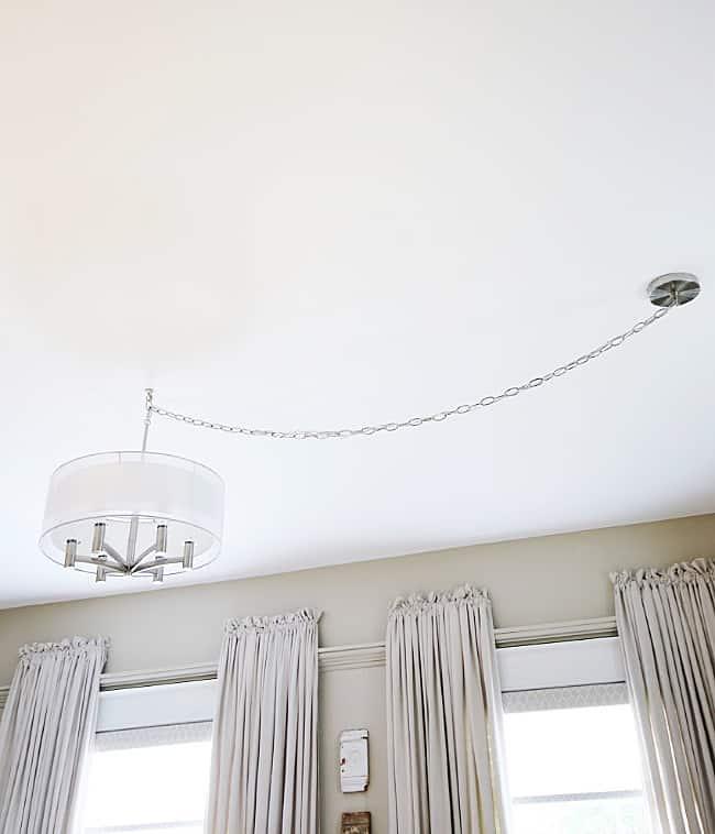 off center ceiling light solution