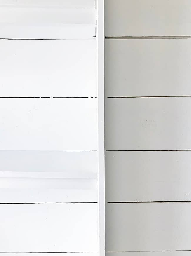 shiplap and bookcases into built-ins
