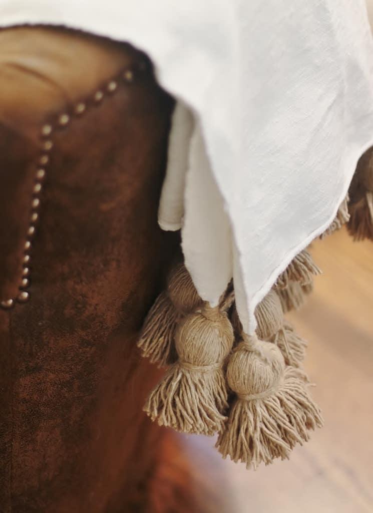close up view tassels