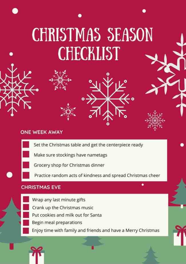 Christmas Checklist Page 2