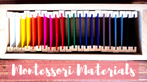 Montessori materials for toddlers