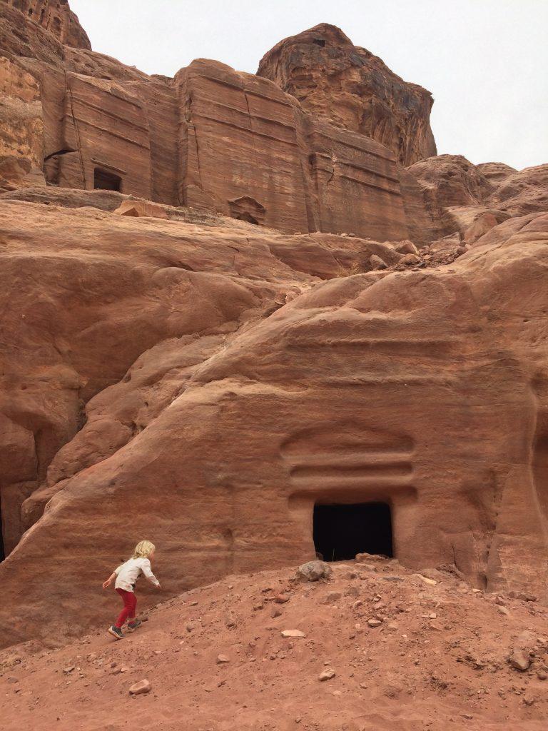 Petra exploring the tombs