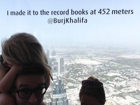 Souvenir selfie fail at the Burj Khalifa