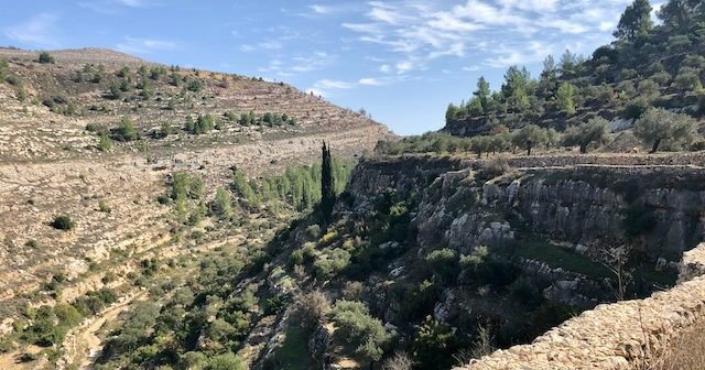 View down the valley from Battir