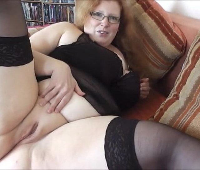 Fat Ass Granny Spreading Her Pussy