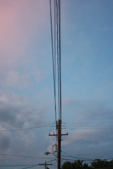 Wires wires everywhere. But what a beautiful sky.