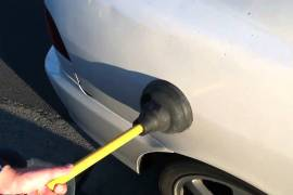 Video - How to pull a dent in your car , very simple , less expensive and easy