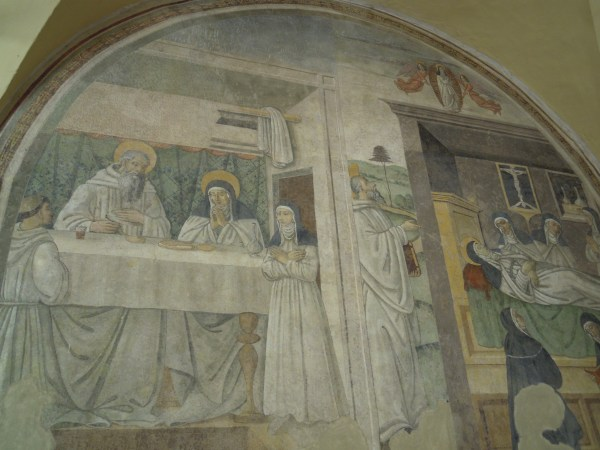 part of some amazing frescoes in San Sepolcro