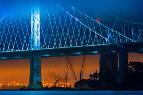 New Bay Bridge in the Fog
