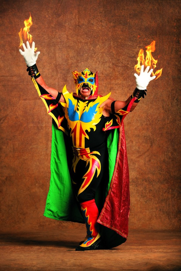 Fire poses for a portrait at the Arena Mexico in Mexico City, Mexico March 21, 2007.