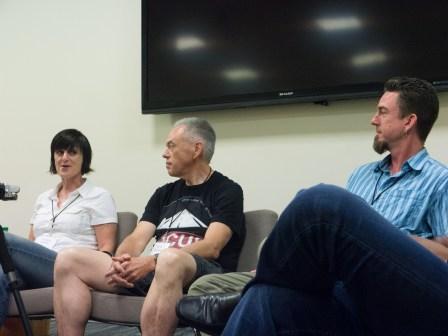 Valerie Jardin, Steve Brokaw and Rob Knight