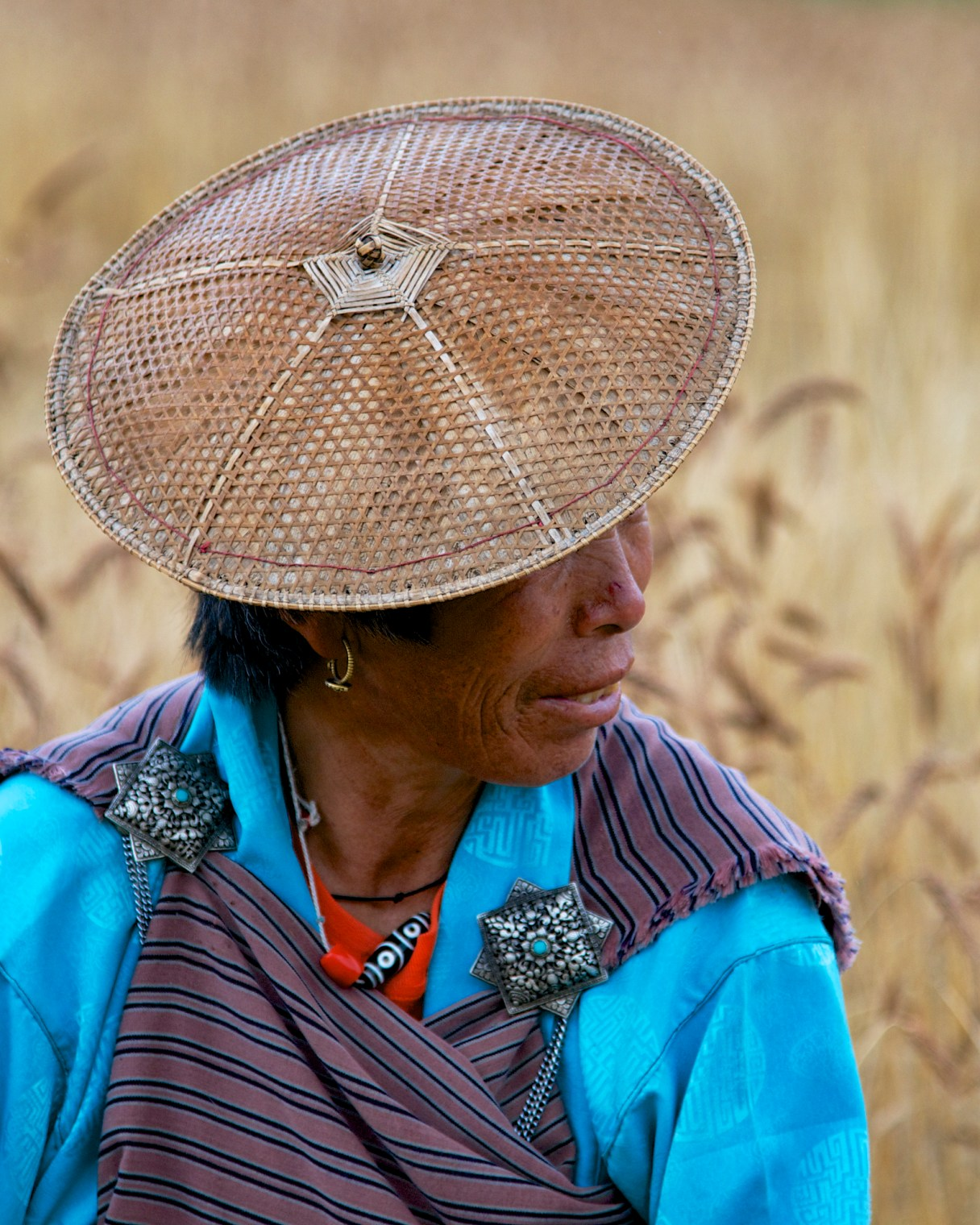 wheat-lady-in-profile-bumthang-bhutan-copyright-2013-ralph-velasco