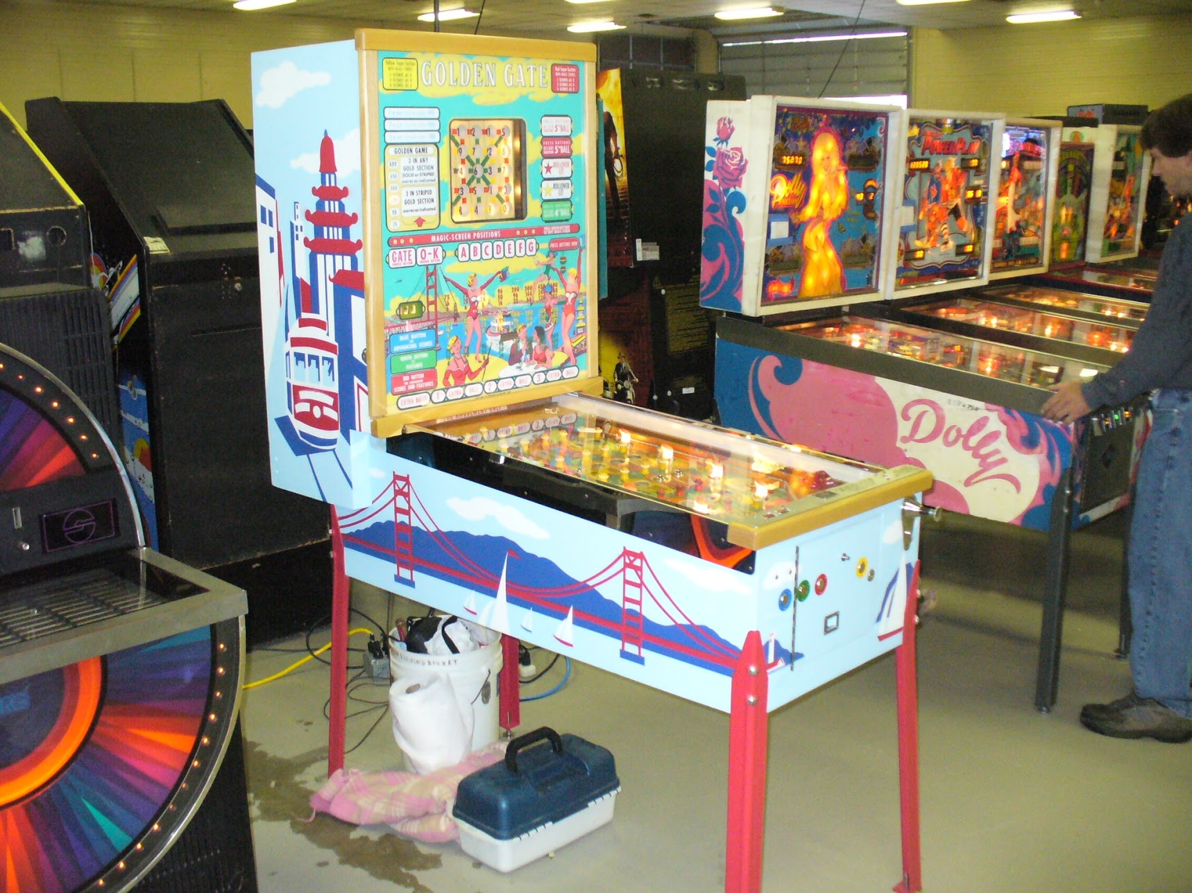 Steve's beautifully restored 'Golden Gate' at the White Rose Gameroom show  a few years ago.