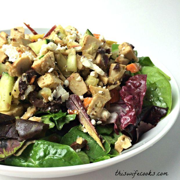 vegetarian greek chicken salad