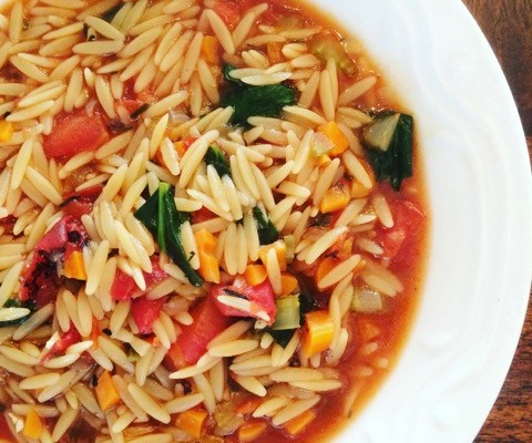 Hearty Vegetable and Orzo Soup