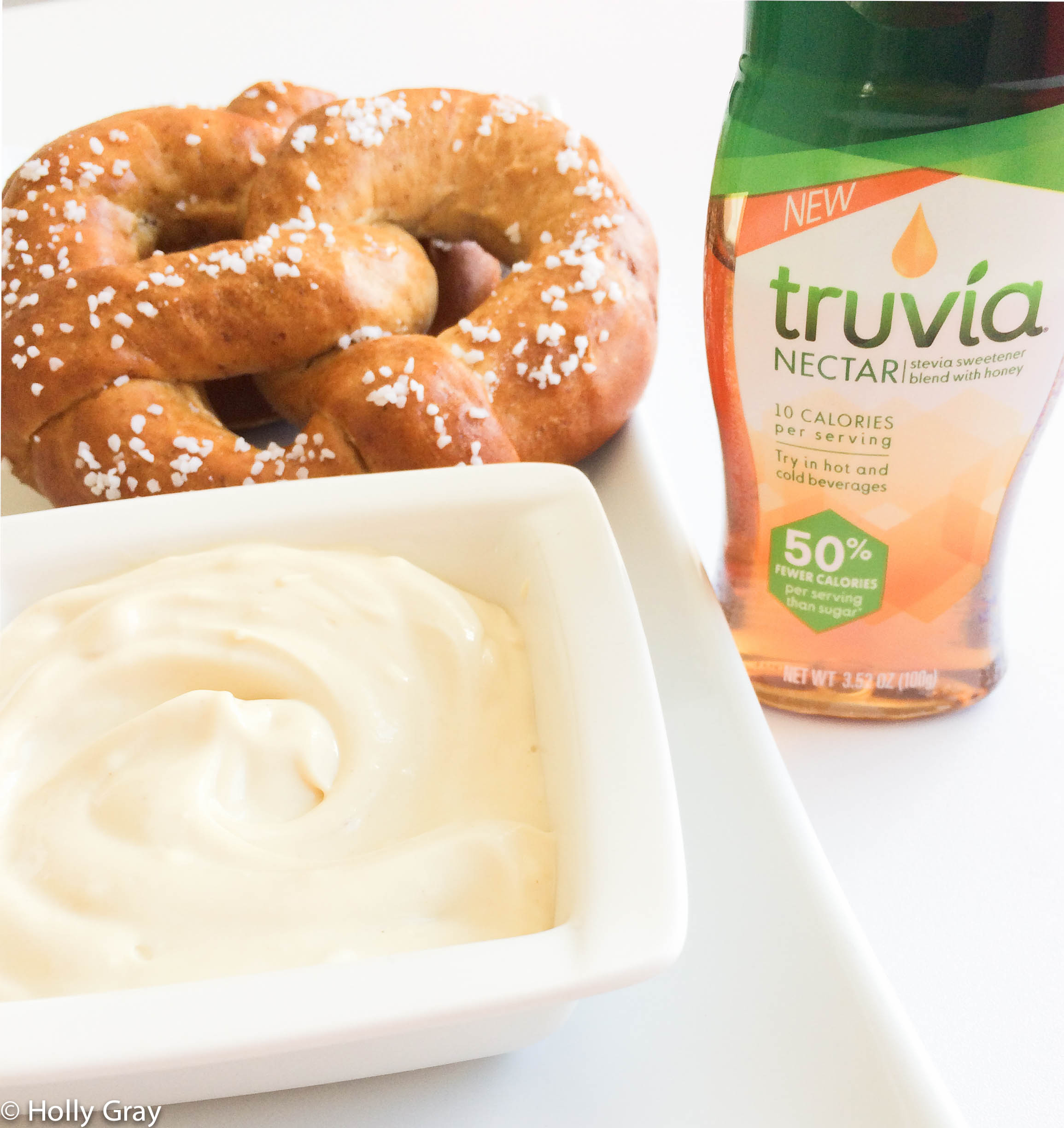 Honey Mustard Pretzel Dip with Truvia Nectar